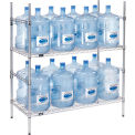 Étagère de rangement pour bouteilles d'eau de 5 gallons, capacité 16 bouteilles