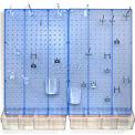Azar affiche 900945-BLU Pegboard chambre organisateur Kit, matériel inclus, bleu Opaque, pièce 1