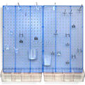 Azar Displays 900945-BLU Pegboard Room Organizer Kit, Hardware Included, Blue Opaque ,1 Piece