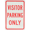 """Aluminum Sign - Visitor Parking Only - .063"""" Thick, 932136"""
