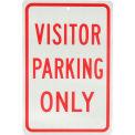 """Panneau en aluminium - stationnement uniquement de visiteur -. 063"""" épais, 932136"""