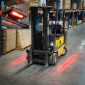 Lumière de sécurité des piétons à installation latérale « Red Zone » pour chariot élévateur DEL