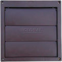 Speedi-Products Louvered Plastic Flush Hood EX-HLFB 06 Brown No Tailpipe 6""