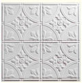 Genesis Designer Antique PVC Ceiling Tile 752-00, Waterproof & Washable, 2'L X 2'W, White - 12/Case
