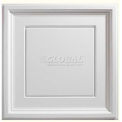 Genesis Designer Icon Coffer PVC Ceiling Tile 753-00, 2'L X 2'W, White - 12/Case