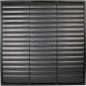 "Black Aluminum Frame / PVC Blade Wall Exhaust Shutter 54"" - EASB-PVCB 54"