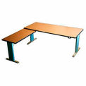 Accella™ Height Adjustable Left Return Desk - Maple