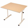 "Knob Adjusted Wheelchair Accessible Table - 36""L x 30""W Maple"