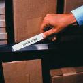 """Porte-étiquette, bandes d'économie, 2 """"x 6"""", clair (50 pcs/paquet)"""