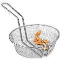 "American Metalcraft CBF8 - Culinary Basket, 8"" Dia., 3"" Deep, Fine Mesh"