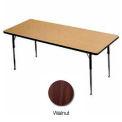 "Activity Table -  Rectangle - 30"" X 72"" - Standard Adj. Height - Walnut"