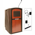 Wireless Pinnacle Full Height Podium / Lectern Cherry