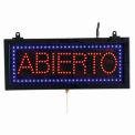 "Aarco petit espagnol signe LED Abierto (Open) - 16-1/8"" W x 6-3/4"" H"