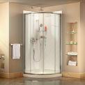 """DreamLine DL-6152-01CL Prime 31 3/8"""" x 31 3/8"""" Shower Enclosure Base & QWALL-4 Shower Backwall Kit"""