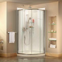 "DreamLine DL-6154-01CL Prime 36 3/8"" x 36 3/8"" Shower Enclosure Base & QWALL-4 Shower Backwall Kit"