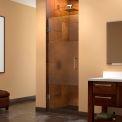 "Dreamline SHDR-20237210F-HFR-01 Unidoor Hinged Shower Door, Half Frosted, Chrome, 23"" x 72"""