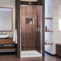 "Porte de douche Pivot Flex DreamLine son-22287200-01, Chrome, 28 à 32 ""x 72"""