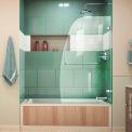"DreamLine™ UNO Aqua seul panneau articulé baignoire porte son-3534586-01, 34 ""x 58"""