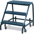 "52-Degree Slope Rolling Ladder - 3 Steps - 18""Wx13""D Top Step - With Handrails"