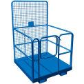 Plateforme de travail sécuritaire Canway,48 po L x48 po l x 75 po H, capacité de800 lb, acier, bleue