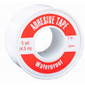 Waterproof Adhesive Tape, Vinyl/Cloth, 2.5 cm x 4.6 m, Spooled