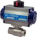 Actionneur pneumatique BI-TORQ, 3/4 po, acier inoxydable, robinet à bille NPT, 2 pièces, avec rappel par ressort