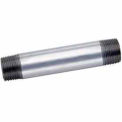 1-1/2 In X 6 In Galvanized Steel Pipe Nipple 150 PSI Lead Free