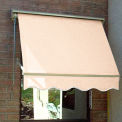 Awntech MS3-LPIN, Retractable Window Awning 3'W x 2'D x 2'H Linen Pin