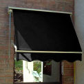 Awntech MS7-K, Retractable Window Awning 7'W x 2'D x 2'H Black
