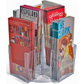 "Azar Displays 252805, Revolving Brochure HLR W/8 Pockets, 4""W x 7""H, CLR, 1-Pack"
