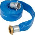 """Apache 98138065 3 """"x 50' PVC plat tuyau de refoulement w / M x F aluminium manches courtes"""