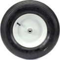 "Marathon 20063 4.80/4.00-8 Ribbed Tread Pneumatic - 3"" Centered Hub - 3/4"" Bearings"