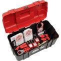 Master Lock® Personal Safety Lockout Kit, Electrical Focus, Keyed Alike, 1457E410KA