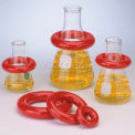 Bel-Art Red Round Lead Ring 183070010, Vikem Vinyl Coated, 1 lb., Fits 250-1000ml Flasks, 1/PK