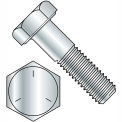 "Hex Cap Screw - 3/8-16 x 1"" - Carbon Steel - Zinc CR+3 - Gr 5 - FT - UNC - USA - 100 Pk - BBI 457138"