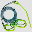 Timber Tuff™ Steel Log Choker Cable with Rings & Probe Stake TMW-48 - 2640 Lb. Hauling Cap.