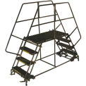 "3 Step Heavy Duty Steel Double Entry Work Platform 24""W Steps - DEP3-2436"