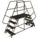 "4 Step Heavy Duty Steel Double Entry Work Platform 24""W Steps - DEP4-2436"