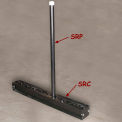 "Bluff A-Frame Slab Rack Post, AFRAME-SRP5, 2"" Dia., 60""H"