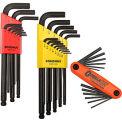 Bondhus 14130 Hex Key Triple Pack SAE, Metric W/ FREE Fold-Up Set