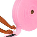 "Perforated Anti-Static Air Foam Rolls 24""W x 550'L, 1/8"" Thickness, Pink, 3 Rolls/Pk"