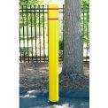 "FlexBollard, 7"" diamètre x 52""H, Installation de béton, jaune w / bande blanche"
