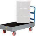 Chariot de confinement des déversements Little Giant® SSB-5125-6PYBK, capacité de 33 gallons