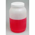 Bel-Art Wide Mouth Gallon Bottle 106381010, HDPE, 4000ml, 110mm Closure, White Cap, 1/PK