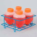 Bel-Art Centrifuge Tube Rack 198560500, For Conical/Round Bottom 500ml Tubes, 4 Places, Blue, 1/PK