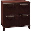 Bush Furniture Lateral File Cabinet, 2 Drawer - Mocha Cherry - Enterprise Series