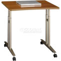 Bush Furniture Mobile Height Adjustable Table - Warm Oak - Series C