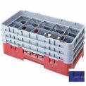 """10HS638186 cambro - Camrack verre Rack 10 compartiments Max 6-7/8"""". NSF hauteur bleu marine, qté par paquet : 3"""