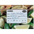 "Cambro 1252SLB250 - Food Rotation Label, 1-1/4"" x 2"", Biodegradable, White"