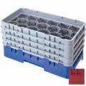 """17HS638416 cambro - Camrack verre Rack 17 compartiments Max 6-7/8"""". Hauteur NSF canneberge, qté par paquet : 3"""